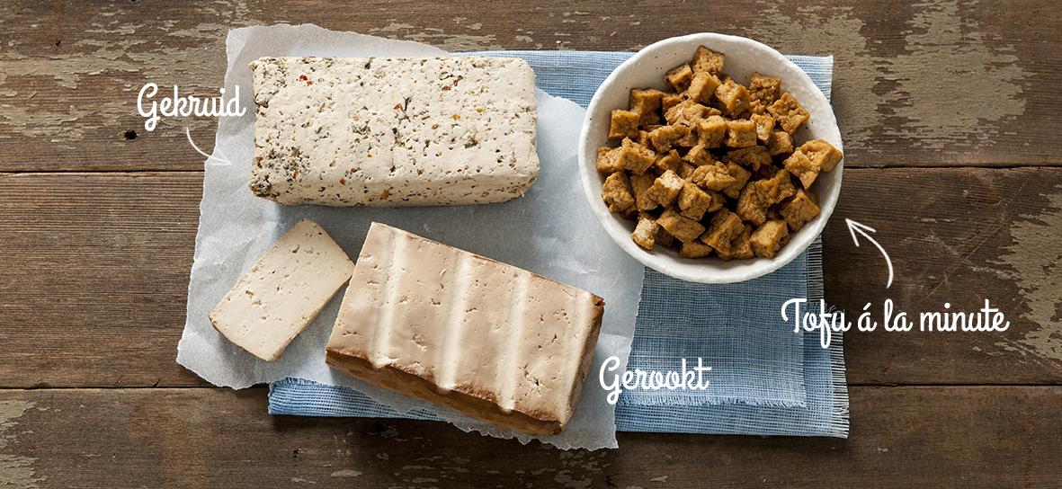 Soorten tofu: gekruid, gerookt, tofu a la minute